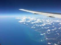 Widok od samolotu nad Czarnym morzem fotografia royalty free