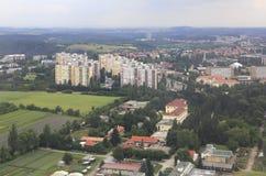 Widok od samolotu teren Praga Obraz Stock
