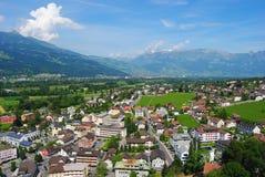 Widok od Schloss Vaduz Zdjęcie Royalty Free