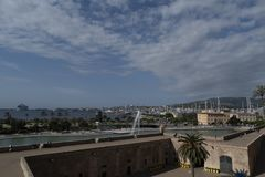 Widok od Ses wolt Palma Majorca Hiszpania zdjęcia stock