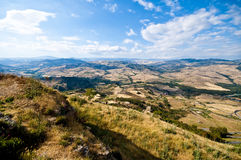 Widok od Sicily Enna Agira northward_1 Obraz Stock