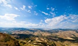 Widok od Sicily Enna Agira northward_1 Zdjęcie Stock