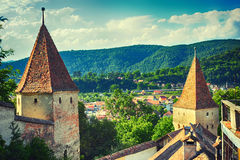 Widok od Sighisoara fortecy Fotografia Royalty Free