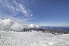 Widok od Snaefellsjokull zdjęcia stock