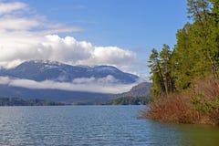 Widok od Sproat prowincjonału Jeziornego parka w Vancouver wyspie, BC, Kanada obrazy stock