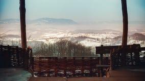 Widok Od Starego rocznika balkonu Zdjęcia Royalty Free