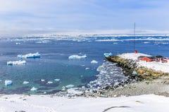 Widok od starego schronienia Nuuk fjord Zdjęcie Stock