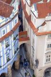 Widok od Starego urzędu miasta na Praga, republika czech Obrazy Royalty Free