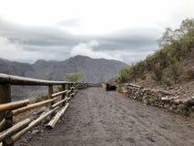 Widok od stopy góra Vesuvius fotografia royalty free