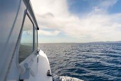 Widok od strony łódź zdjęcia stock