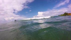 Widok od surfingu fala zbiory wideo