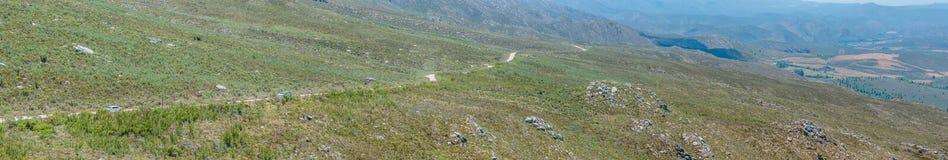 Widok od Swartberg przepustki w kierunku Cango Zawala się Zdjęcie Royalty Free