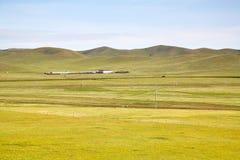 Widok od syberyjskiego pociągu przy Ulaanbaatar, Mongolia fotografia royalty free