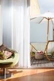 Widok od sypialni balkonowy synkliny okno Obraz Royalty Free