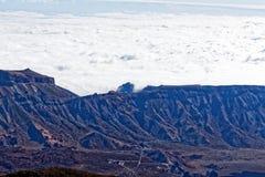 Widok od szczytu Mt Teide, Tenerife, Hiszpania Obraz Royalty Free