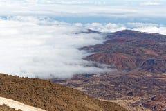 Widok od szczytu Mt Teide, Tenerife, Hiszpania Zdjęcia Stock