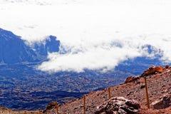 Widok od szczytu Mt Teide, Tenerife, Hiszpania Fotografia Royalty Free