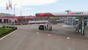 Widok od Tatneft Benzynowej staci chałupa okręgu antena zdjęcie wideo