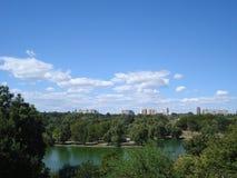 Widok od Tineretului parka w Bucharest Obraz Royalty Free