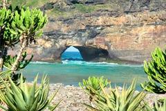 Widok od tropikalnego lasu przy dziurą w ścianie Zdjęcia Royalty Free