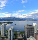 Widok od Vancouver śródmieścia na Vancouver schronieniu Zdjęcie Royalty Free