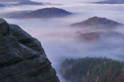 Widok od Vilemina vyhlidka przegapia, czech Szwajcaria, republika czech Zdjęcie Stock