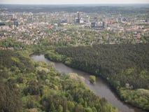 Widok od Vilnius TV wierza (Lithuania) Zdjęcie Stock