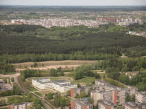 Widok od Vilnius TV wierza (Lithuania) Fotografia Royalty Free