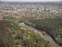 Widok od Vilnius TV wierza (Lithuania) Zdjęcia Royalty Free