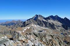 Widok od Vychodna Vysoka, Wysoki Tatras, Sistani zdjęcie stock