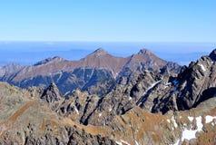 Widok od Vychodna Vysoka, Wysoki Tatras, Sistani obraz royalty free