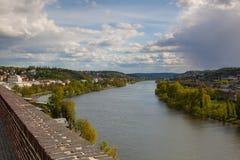 Widok od Vysehrad po deszczu, Praga, republika czech Obraz Stock