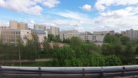 Widok od wagon metra zdjęcie wideo