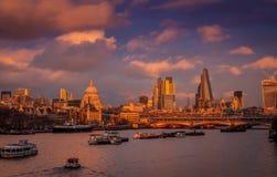 Widok od Waterloo mosta Zdjęcie Royalty Free