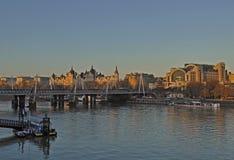 Widok od Waterloo mosta zdjęcie stock