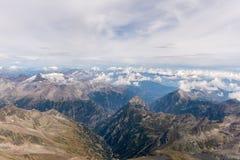 Widok od Weismiess, Szwajcaria Zdjęcia Stock