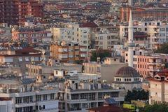 Widok od Wewnętrznego kasztelu, Alanya, Turcja Lato Fotografia Stock
