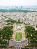Widok od wieży eifla Zdjęcia Royalty Free