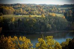 Widok od wieży obserwacyjnej w Korneti, Latvia Obraz Stock