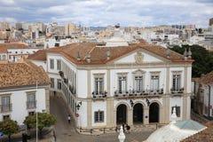 Widok od wierza Faro duduś on miasto Algarve Portugalia obraz royalty free