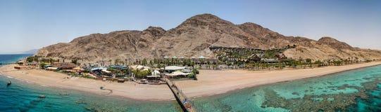 Widok od wierza podwodny obserwatorium blisko Eilat w Izrael obraz royalty free