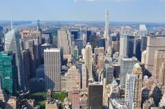 Widok od wierzchołka empire state building w Miasto Nowy Jork, usa Fotografia Royalty Free