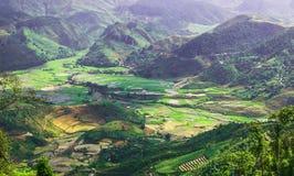 Widok od wierzchołka Khau Pha przepustka obraz stock