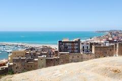 Widok od wierzchołka, port Sciacca, Sicily, Agrigento Zdjęcie Stock