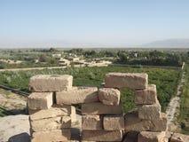 Widok od wierzchołka Takht-e Rostam w Balkh, Afganistan Obraz Stock