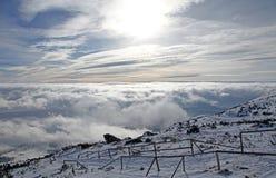 Widok od Wysokich Tatras gór Zdjęcia Stock