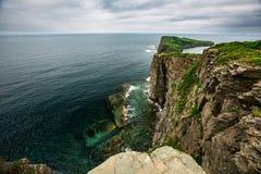 Widok od wysokiego punktu na morzu Japonia fotografia stock
