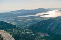 Widok od wysokiej góry lotnisko Obrazy Royalty Free