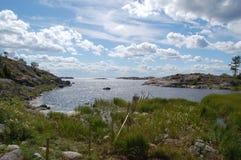 Widok od wyspy, Häradsskär fotografia stock