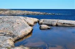 Widok od wyspy, Häradsskär obrazy royalty free